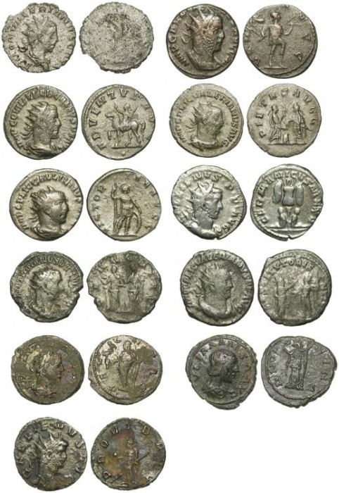 Ancient Coins - LOT OF 11 INEXPENSIVE ROMAN COINS. MOSTLY ANTONINIANI. SUPER PRICE !