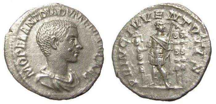 Ancient Coins - DIADUMENIAN  DENARIUS.  RARE.