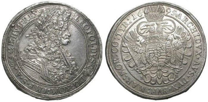 Ancient Coins - LEOPOLD I. AUSTRIA. THALER. HUNGARIAN MINT