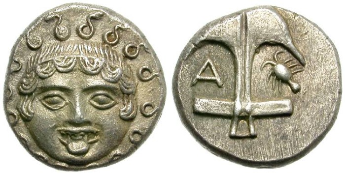 Ancient Coins - APOLLONIA,  PONTIKA.  DRACHM.  GOOD  SILVER.  BEAUTIFUL  COIN.
