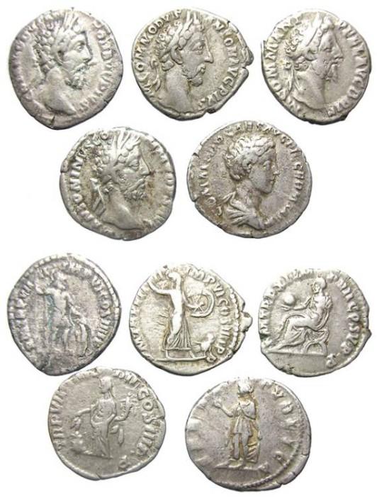 Ancient Coins - COMMODUS.  5  DENARIUS.