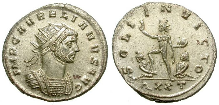 Ancient Coins - AURELIAN. AE ANTONINIAN. PERFECT CONDITION. FDC. FULL SILVERING. INCREDIBLE CONDITION
