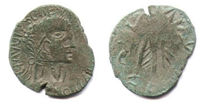 """Ancient Coins - """"CLAUDIUS"""". SESTERZ. EF. BARBAROUS ISSUE. WILD & WONDERFUL STYLE !"""