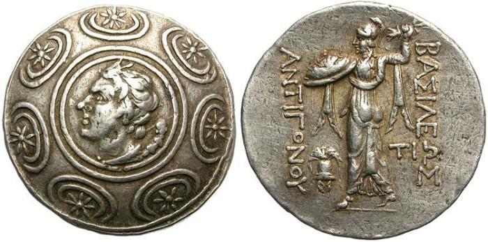 Ancient Coins - ANTIGONOS GONATAS. MACEDONIAN KINGDOM. SILVER TETRADRACHM. NICE ISSUE !