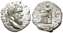 Ancient Coins - PERTINAX. SILVER DENARIUS. ALEXANDRIA MINT. SO NICE FOR THAT MINT