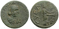Ancient Coins - SALONINA. PROVINCIAL AE. SYEDRA, CILICIA. RARE. SO ATTRACTIVE ISSUE !