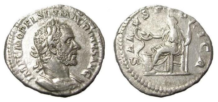 Ancient Coins - MACRINUS  DENARIUS.  SCARCE.