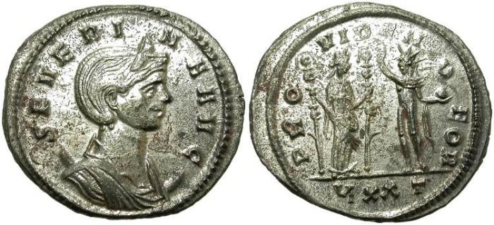 Ancient Coins - SEVERINA. BILLON ANTONINIANUS. NICELY STRUCK. GREAT CONDITION