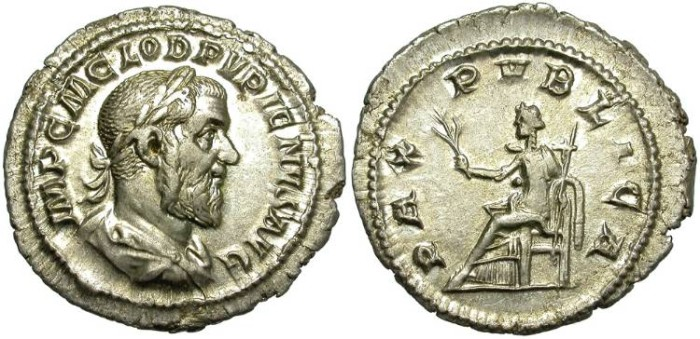 Ancient Coins - PUPIENUS. SILVER DENARIUS. VERY NICE CONDITION.