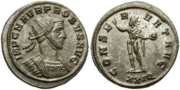 Ancient Coins - PROBUS. BILLON ANTONINIANUS. INTERESTING BUST. SISCIA RIC 671 /2