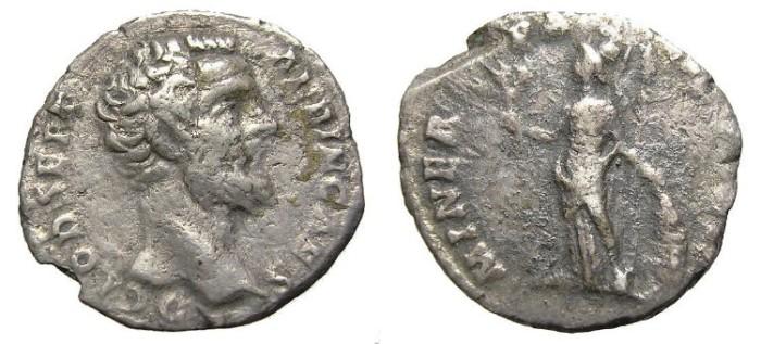Ancient Coins - CLODIUS  ALBINUS  DENARIUS.  A. D. 195-197