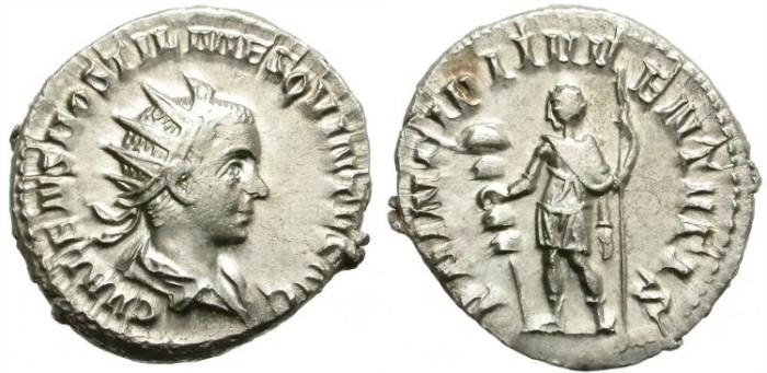 Ancient Coins - HOSTILIAN. 250 - 251 A.D.  AR  ANTONINIANUS. NICE  BUST. SCARCE  CAESAR.