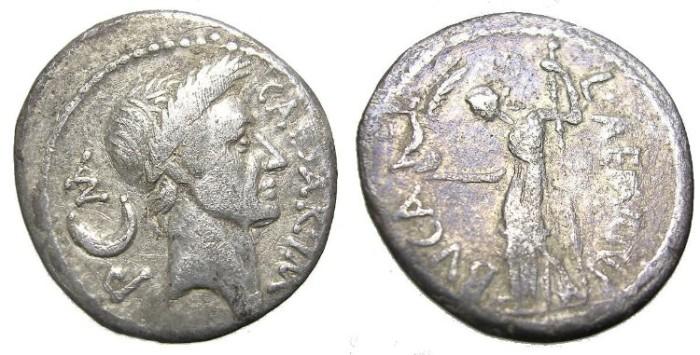 Ancient Coins - JULIUS  CAESAR.  DENARIUS.