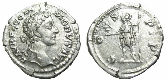 Ancient Coins - COMMODUS  DENARIUS.  YOUNG  BUST.