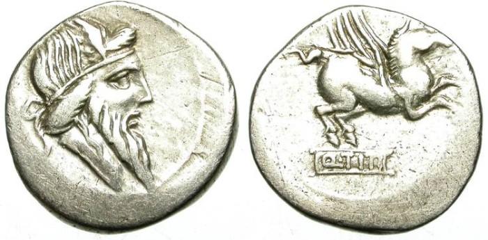 Ancient Coins - ROMAN REPUBLIC. SILVER DENARIUS. TITIA 1. INTERESTING ISSUE