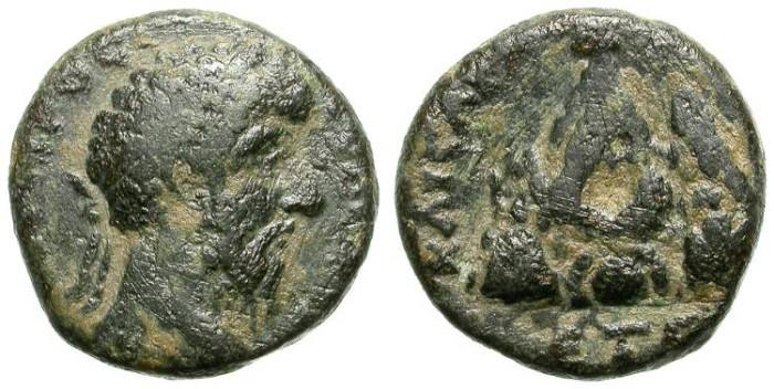 Ancient Coins - LUCIVS VERVS. PROVINCIAL AE. CAESAREA, IN CAPPADOCIA. MOUNT ARGAEUS