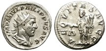 Ancient Coins - PHILIP I  AD 244–249.  AR  ANTONINIANUS.  FANTASTIC BUST. GOOD QUALITY.