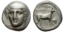 Ancient Coins - AINOS, THRACE. SILVER TETRADRACHM. IMPRESSIVE HEAD OF HERMES FACING SLIGHTLY LEFT. NICE COIN.
