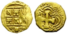 World Coins - 2 ESCUDOS. GOLD COB. BOGOTA (COLOMBIA). 1741. FULL VISIBLE DATE. RARE !