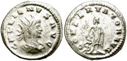 Ancient Coins - GALLIENUS, 260-268 AD. ANTONINIANUS.  INTERESTING. VERY SILVERY