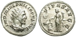 Ancient Coins - PHILIP I. AG ANTONINIAN. EF. SO NICE CONDITION !