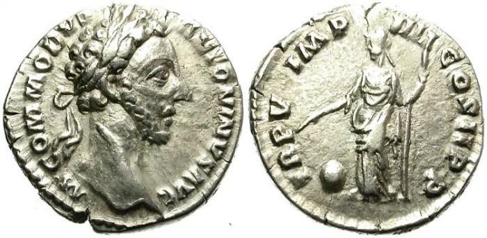 Ancient Coins - COMMODUS. SILVER DENARIUS. ATTRACTIVE STRIKE