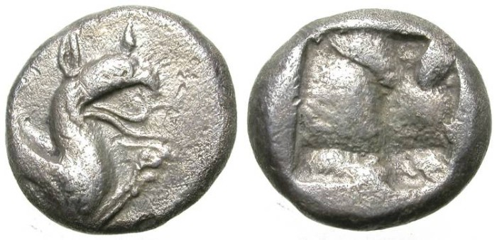 Ancient Coins - PHOKAIA. VERY RARE DRACHM. GREAT CONDITION !