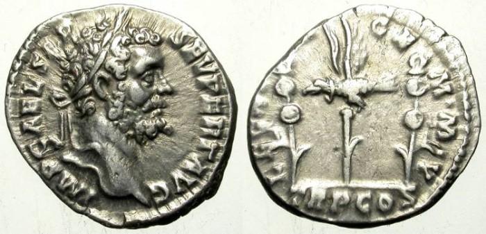 Ancient Coins - SEPTIMIUS SEVERUS LEGIONARY DENAR. NICE VF. GREAT PORTRAIT !