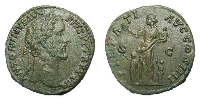Ancient Coins -   ANTONINUS  PIUS  SUPERB  SESTERTIUS.
