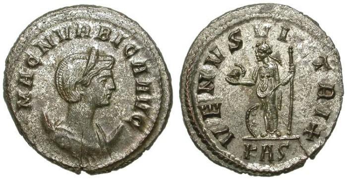 Ancient Coins - MAGNIA URBICA. AE ANTONINIANUS. ROME MINT. GOOD CONDITION