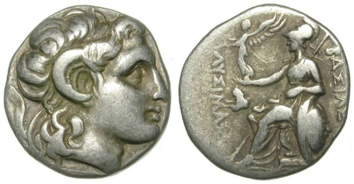 Ancient Coins - LYSIMACHOS. DRACHM. VERY ATTRACTIVE ISSUE