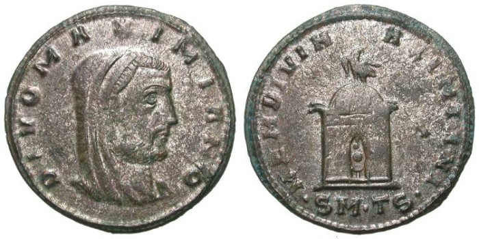 Ancient Coins - DIVO MAXIMIANO. RARE FOLLIS. VERY NICE COIN