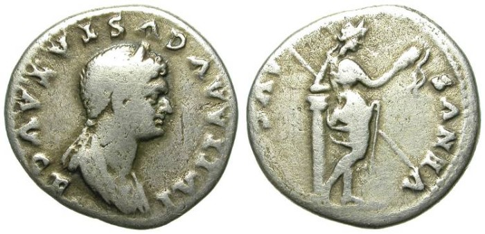 Ancient Coins - FILLING THE HOLE. IULIA TITI. SILVER DENAR. AN AFFORDABLE RARITY