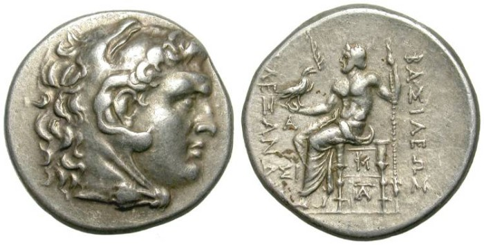 Ancient Coins - ALEXANDER THE GREAT. SILVER TETRADRACHM. SINOPE. NICE ISSUE !