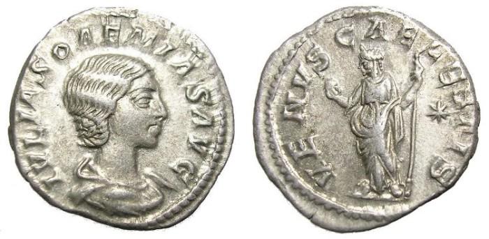 Ancient Coins - JULIA  SOAEMIAS  DENARIUS.  INTERESTING.
