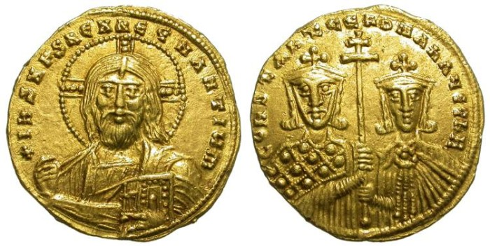 Ancient Coins - CONSTANTINE VII WITH ROMANUS II. 913 - 952 A.D. SOLIDUS. EXCEPTIONAL COIN.