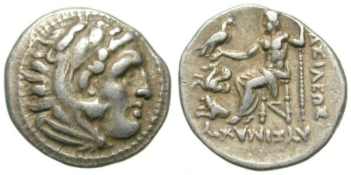 Ancient Coins - LYSIMACHOS. DRACHM. ATTRACTIVE PIECE. GOOD SILVER CONDITION