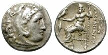 Ancient Coins - ALEXANDER THE GREAT. SILVER DRACHM. RARE COMBINATION OF SYMBOLS