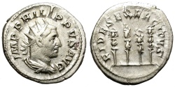 Ancient Coins - PHILIP I.  AD 246-249 ANTONINIANUS, ROME. INTERESTING REVERSE.