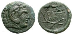 Ancient Coins - LYSIMACHOS, 323-281 BC.  BRONZE. HERAKLES.