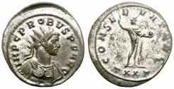 Ancient Coins - PROBUS. AD 277. ANTONINIANUS. TICINUM. ATTRACTIVE.