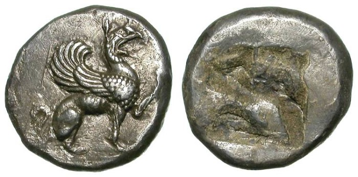 Ancient Coins - TEOS. HALF STATER. NICE VF. SUCH A NICE ISSUE !