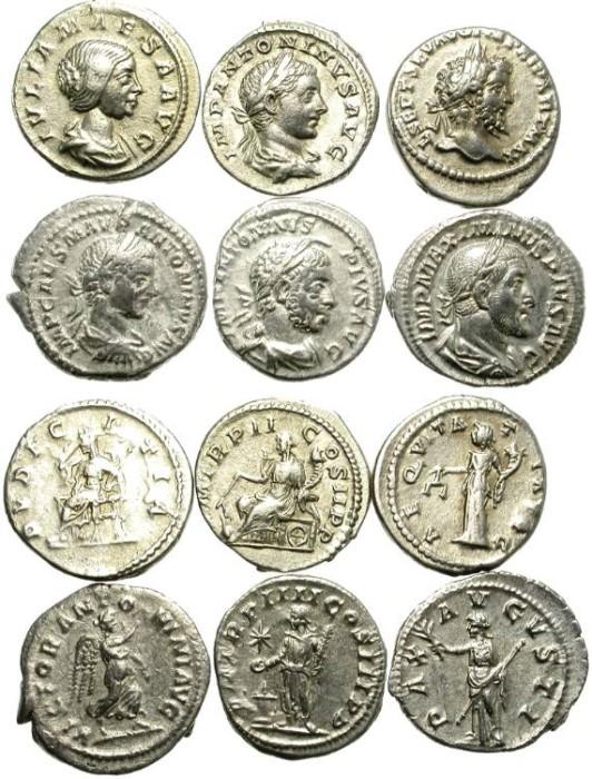 Ancient Coins - LOT OF 6 SILVER ROMAN DENARIUS. NICE CONDITION. 2/9