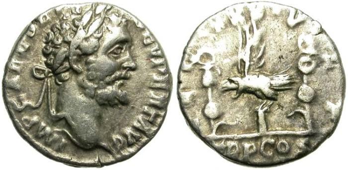 Ancient Coins - SEPTIMIUS SEVERUS. RARE LEGIONARY DENAR. LEG XXX VLPIA