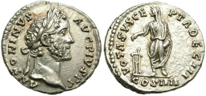 Ancient Coins - ANTONINUS PIUS. SILVER DENARIUS. NICE REVERSE.