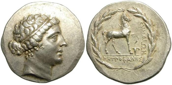 Ancient Coins - KYME, AIOLIS. SILVER TETRADRACH. NICE PORTRAIT.