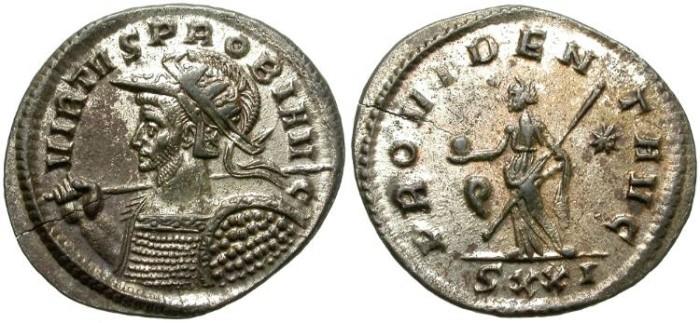 Ancient Coins - PROBUS. BILLON ANTONINIANUS. TICINUM MINT. NICE PORTRAIT
