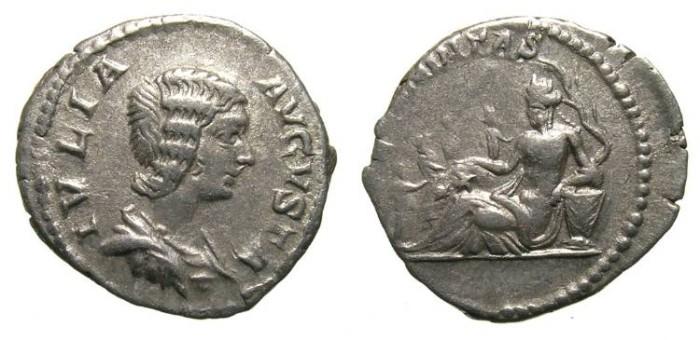 Ancient Coins - JULIA DOMNA. DENAR. FECUNDITAS on REV. VERY RARE. AFFORDABLE  !