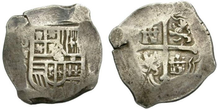 World Coins - 8 REALES. SILVER COB. PHILIP III. MEXICO CITY. ASSAYER D. NICE SILVER CONDITION