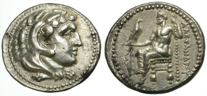 Ancient Coins - ALEXANDER. TETRADRACHM. SALAMIS. LIFETIME ISSUE. SO NICE